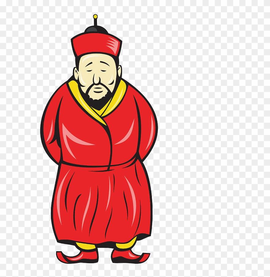 China clipart cartoon. Old chinese man png