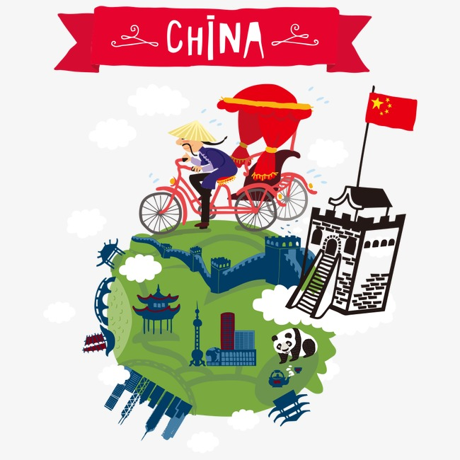 China clipart china travel. Elements tourism great wall