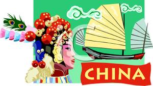 China clipart china travel. Poster for royalty free