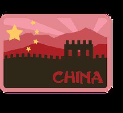 Labels or badges social. China clipart china travel