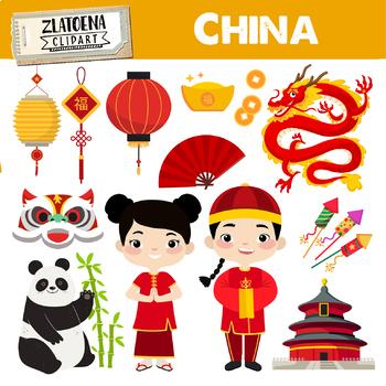 Chinese clipart clip art. New year china panda