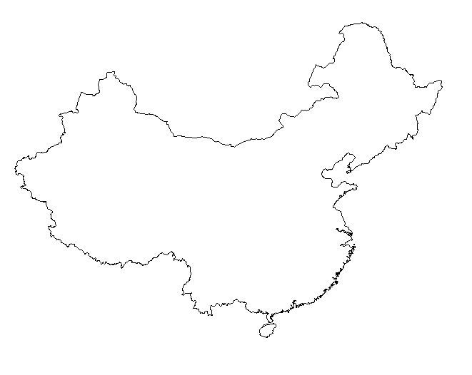 China clipart country china. Blank outline maps of