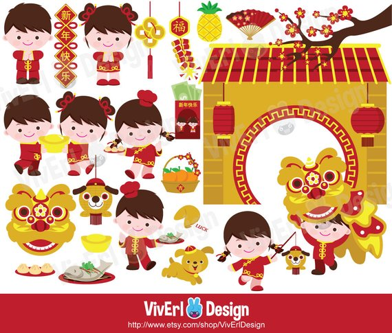 Chinese new year . China clipart cute
