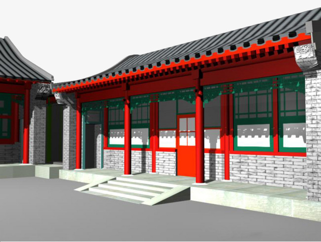 China clipart house chinese. Ancient architecture d model