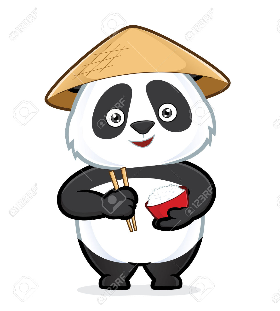 Chinese panda pencil and. China clipart illustration