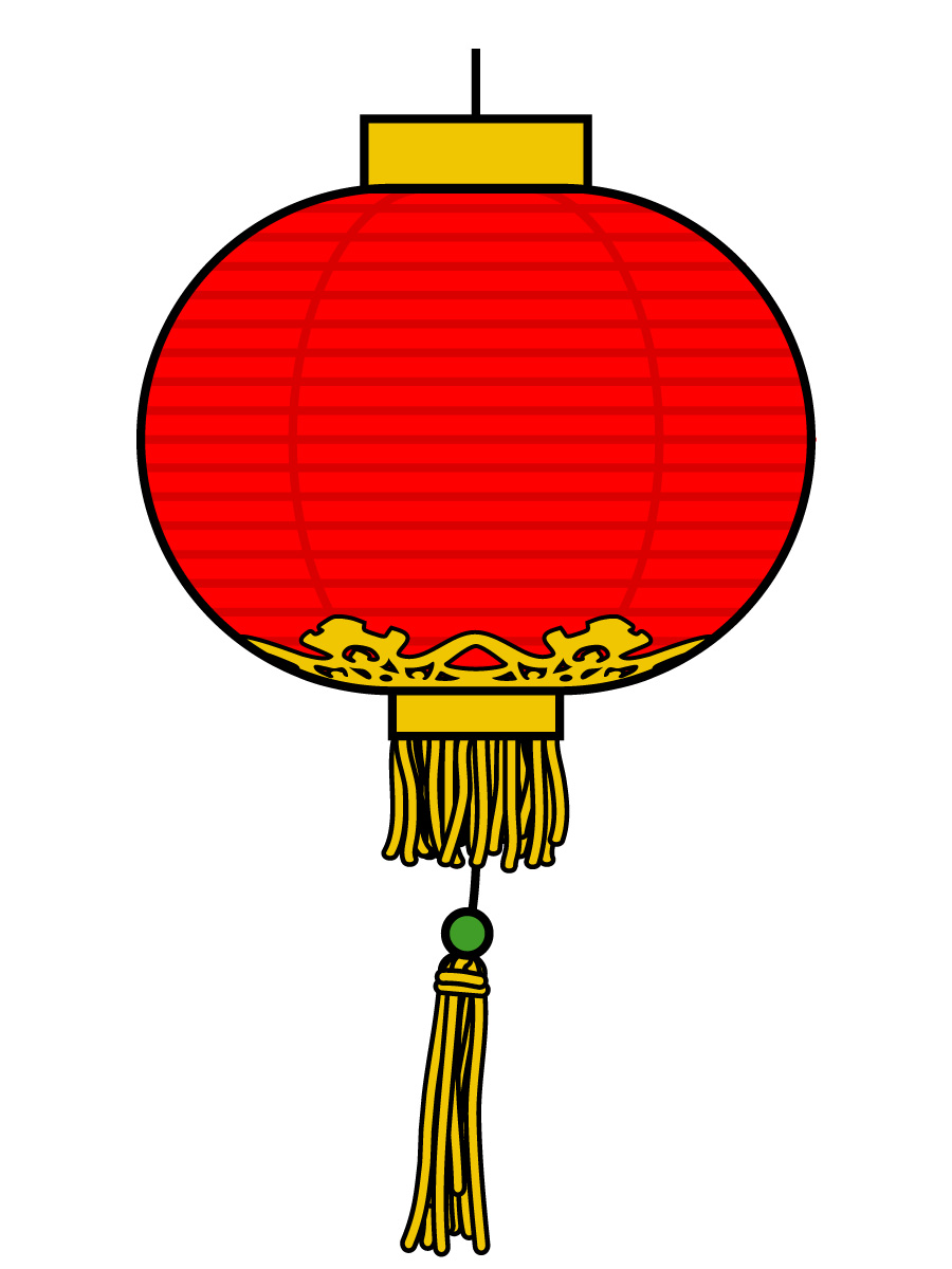 Chinese lantern collection free. China clipart illustration