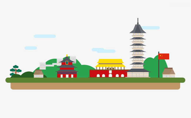 China clipart illustration. Of the imperial palace