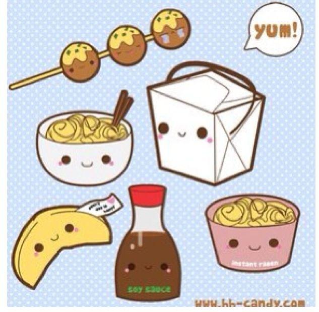 China clipart kawaii. Food soo cute pinterest