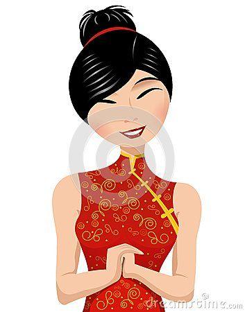 China clipart kid china girl. Nice cartoon chinese woman