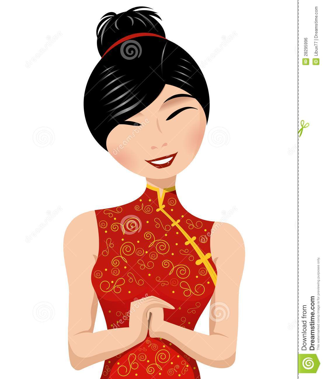. Chinese clipart lady chinese