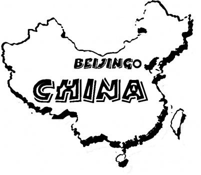 China clipart map. Of coloring page panda
