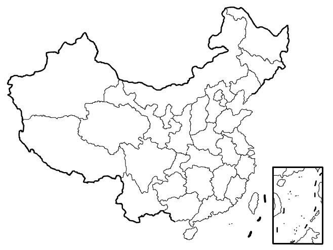 china clipart map