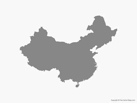 Vector maps of free. China clipart map