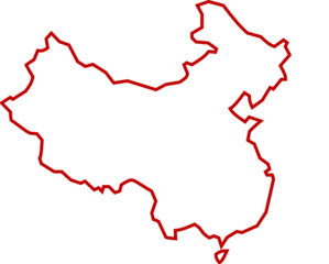 White red of clip. China clipart outline