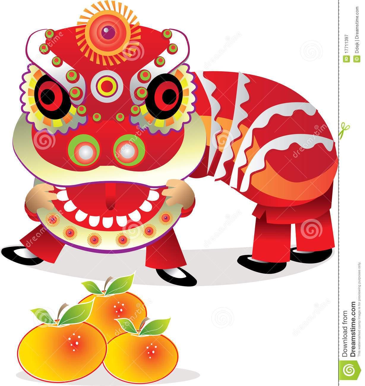 Chinese new year dragon. China clipart parade