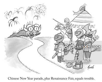 China clipart parade. Chinese new year cartoons