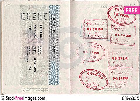 Hong kong and stamps. China clipart passport