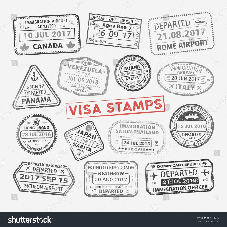 China clipart passport. Set of different international