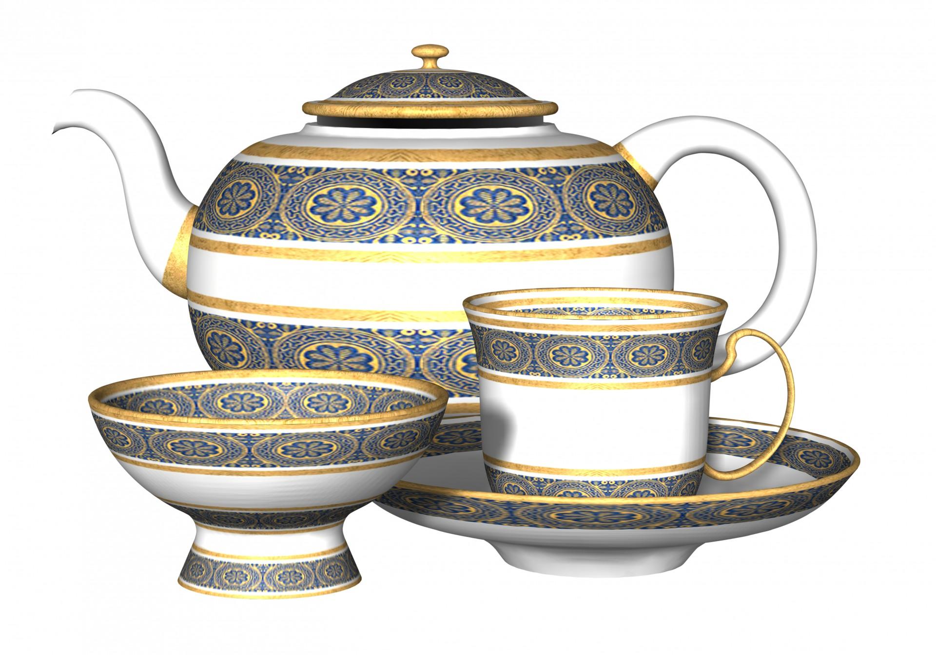 China clipart set. Bone tea free stock