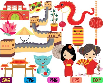 Chinese clipart. Kawaii japanese asian china