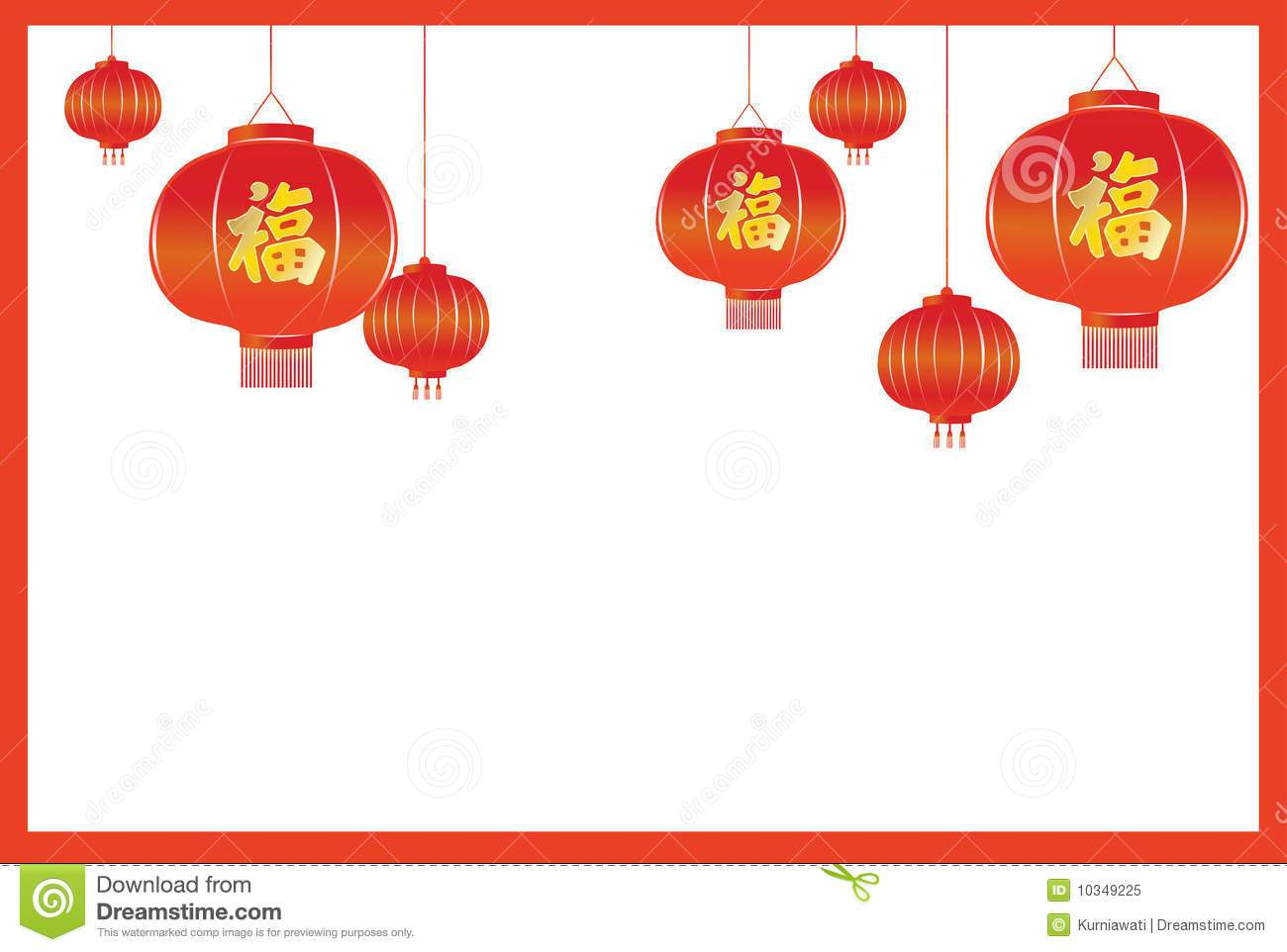 Chinese clipart boarder.  beauty new year