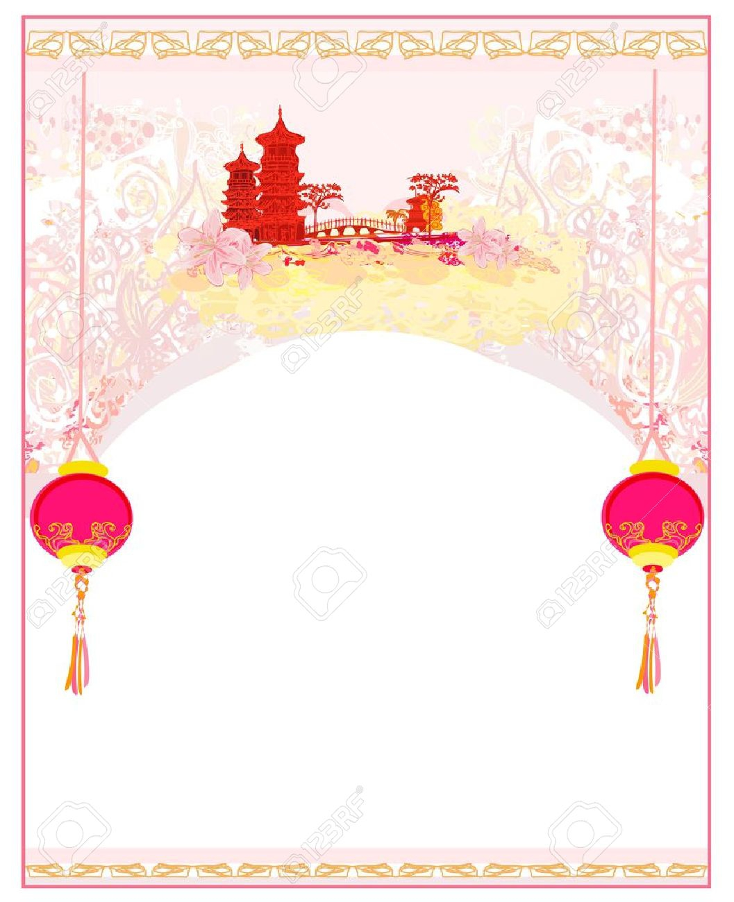 Chinese clipart border. Asian download
