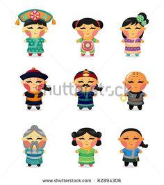 Chinese clipart chibi. Grandma cartoon google search
