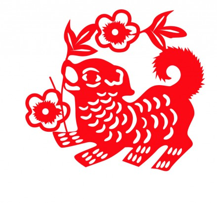 Chinese clipart dog. New year signs merry