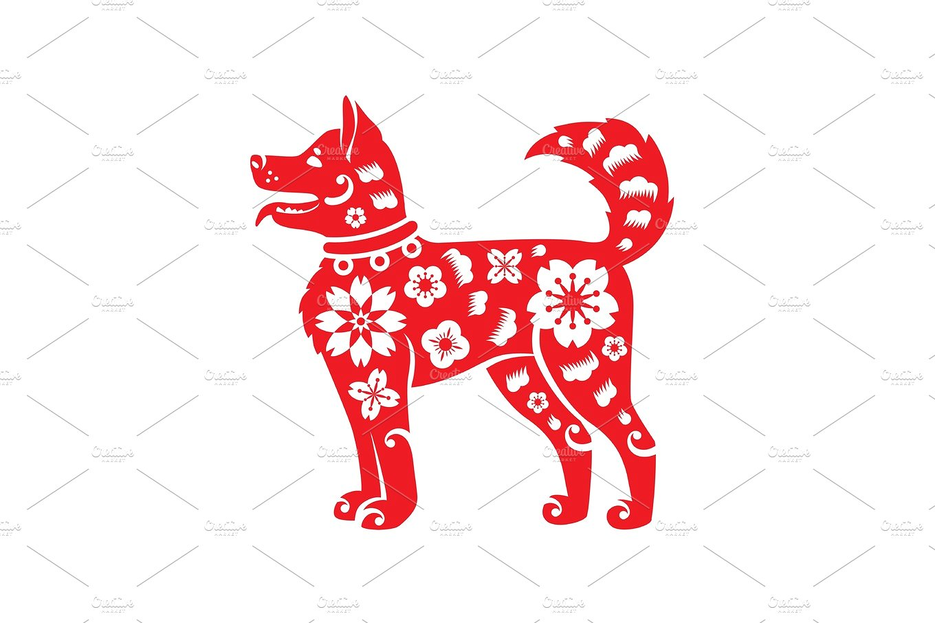 Chinese clipart dog. New year symbol of
