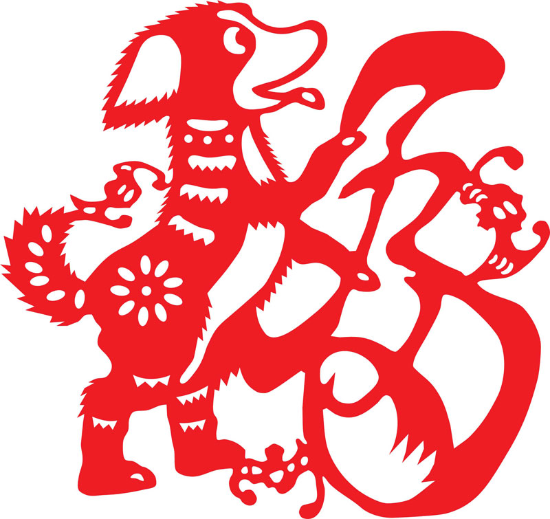 Zodiac picture china culture. Chinese clipart dog