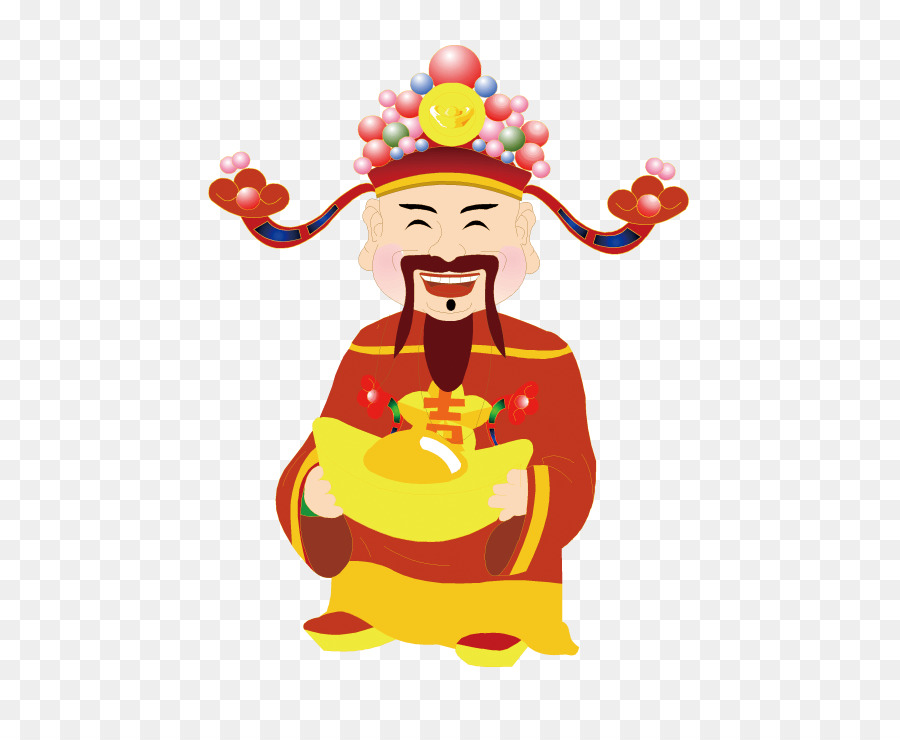 Caishen jade new year. Chinese clipart emperor chinese