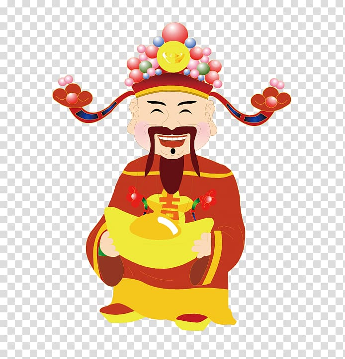 Chinese clipart emperor chinese. Caishen jade new year