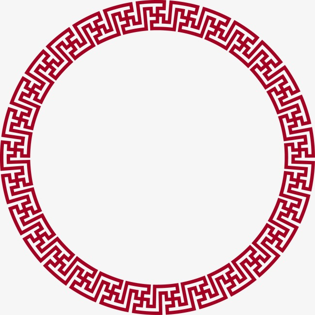 Style round border decorative. Chinese clipart frame