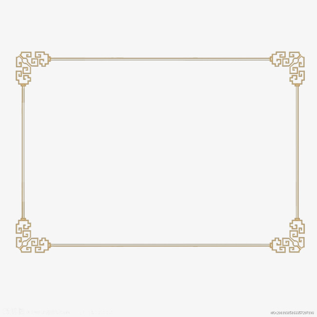 Chinese clipart frame. China wind wire style