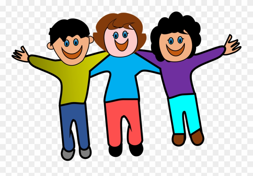 Collaboration friendship . Clipart friends animated
