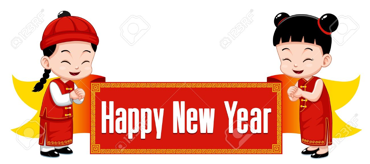 Chinese newyear pencil and. Asian clipart toddler