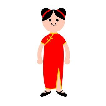 Free silhouette vector icon. Chinese clipart lady chinese