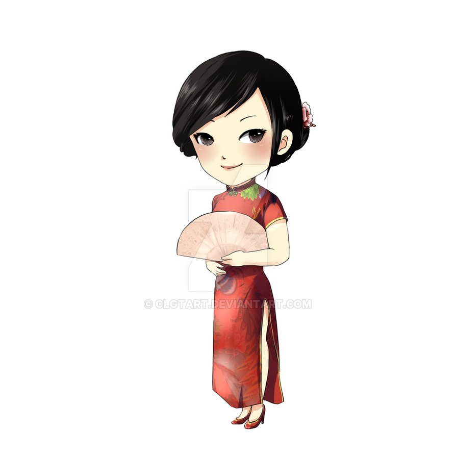 Commission girl by clgtart. Chinese clipart lady chinese