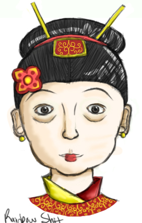 Chinese clipart lady chinese. Old by rainbow shit