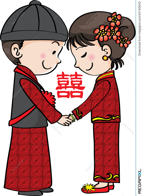 Chinese clipart love. Traditional wedding illustration megapixl