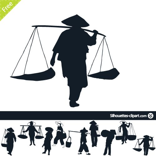 chinese clipart peasant japanese