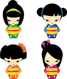 Kokeshi clip art momiji. Chinese clipart peasant japanese