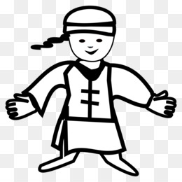 Chinese clipart person china. Girl boy asian people