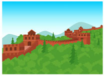 Chinese clipart scenery. Free ancient china clip