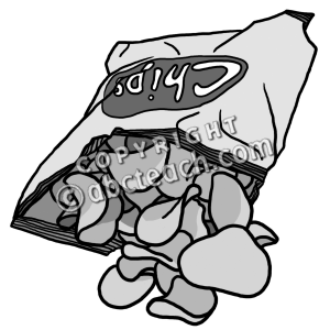 Chips black and white. Chip clipart