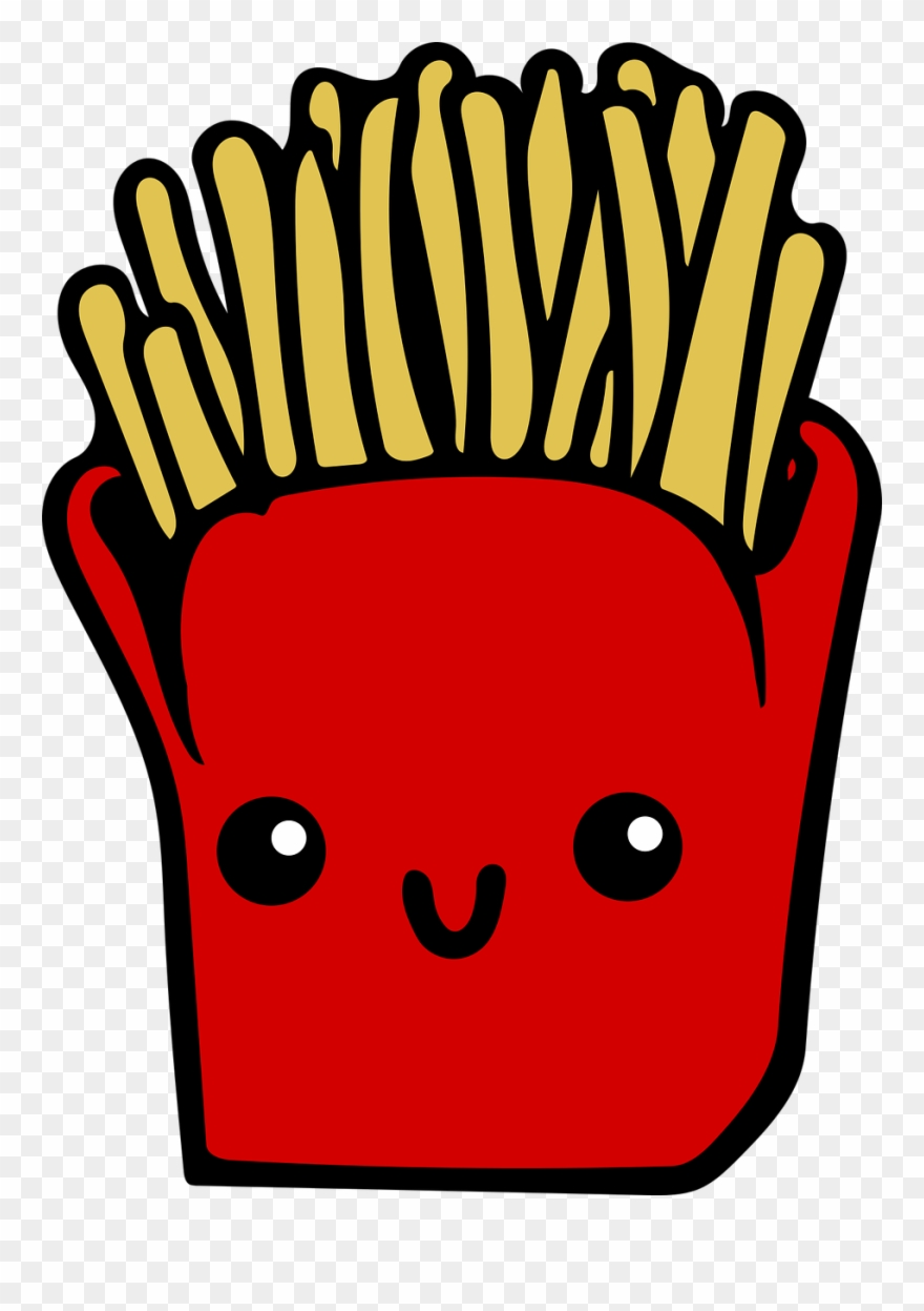 Chips clipart cute. French fries fast food