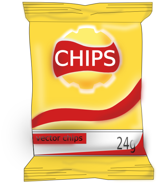 Chips clipart chip packet. Bag of clip art
