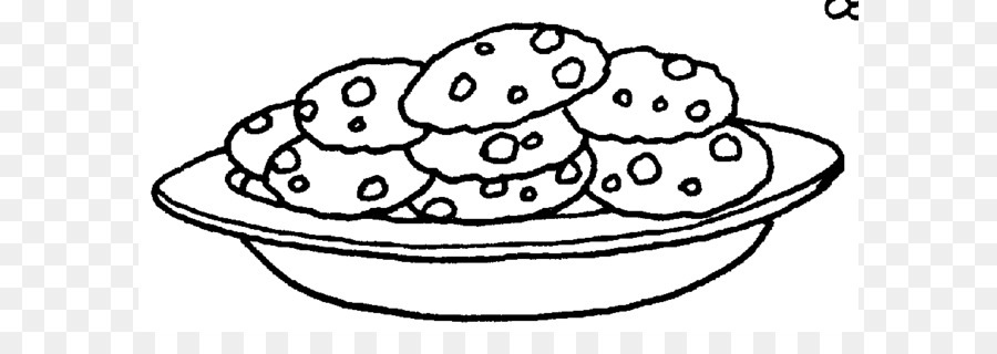 Cookie chocolate biscuit clip. Chip clipart black and white