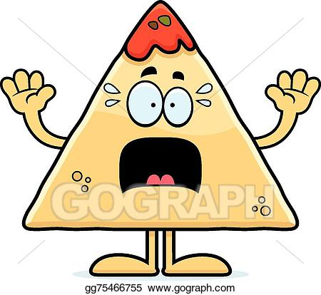 Eps vector scared and. Chips clipart cartoon