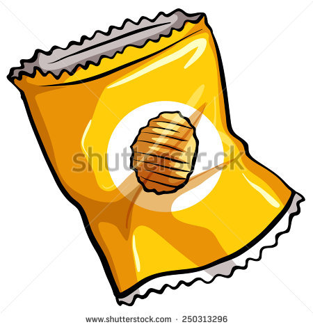 Chip clipart cartoon. Chips packet pencil and